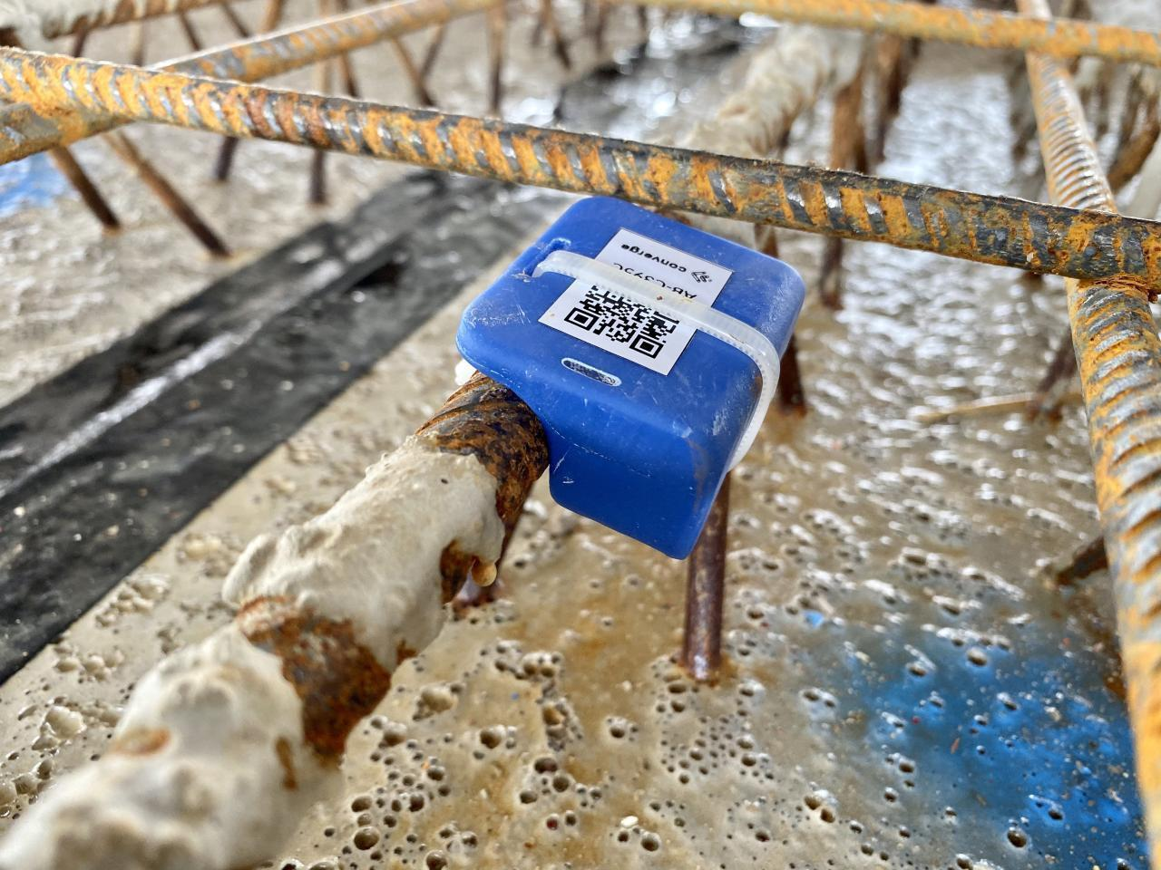 Concrete sensor in real environment. Photo by Converge.
